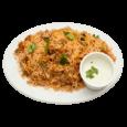 28. Chicken biryani med raita (krydret yoghurt)     69,-